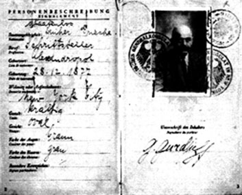 Passport of Gurdjieff