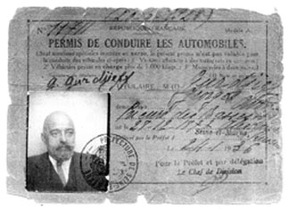 Drivers License of Gurdjieff