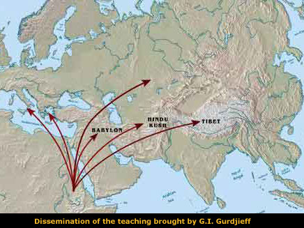 Gurdjieff followed the migration of prehistoric Christianity from Egypt, Fourth Way