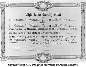 Orage Marriage Certificate